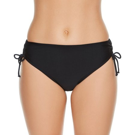 Beach Diva Womes Solid Side Tie Waist Swim