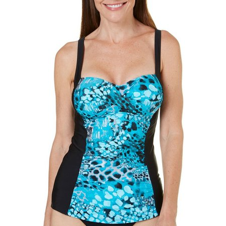 Beach Diva Womens Ski Sunstation Tankini Top