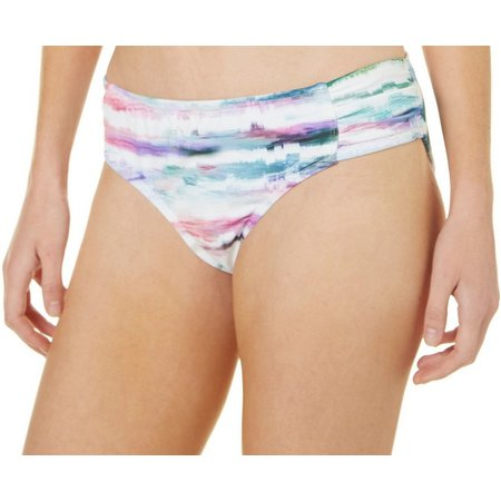 Reel Legends Womens Watercolor Tab Side Swim Bottoms.
