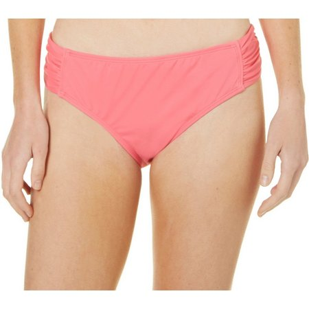 Reel Legends Womens Shirred Hipster Swim Bottoms