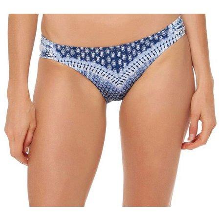 Jessica Simpson Womens Bondi Shirred Hipster Swim Bottoms