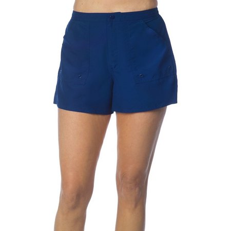 Maxine Solid Woven Swim Boardshorts