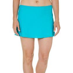 St. Tropez Womens Solid A-Line Swim Skirt
