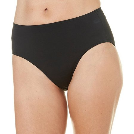 A Shore Fit Womens Classic Solid Swim Bottoms