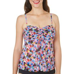 A Shore Fit Womens Potpourri Fly Away Tankini