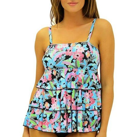 New! A Shore Fit Womens Origami Tiered Tankini
