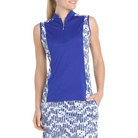 IZOD Golf Womens Retro Rectangles Polo Shirt