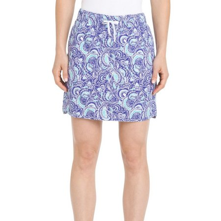 IZOD Golf Womens Abstract Floral Drawstring Skort