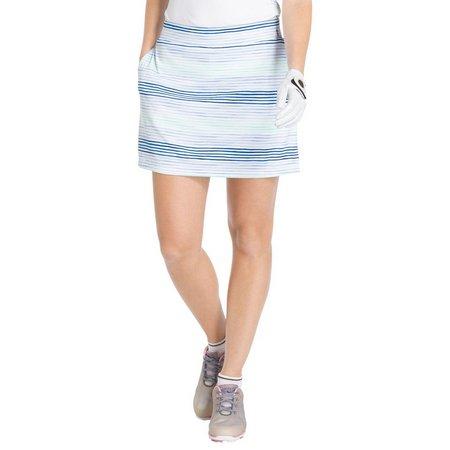 IZOD Golf Womens Multi-Stripe Pull On Skort
