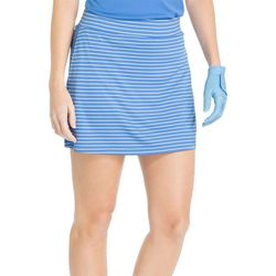 IZOD Golf Womens Striped Knit Pull-On Skort
