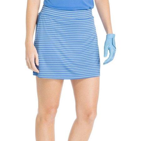 IZOD Golf Womens Striped Knit Pull-On Skort