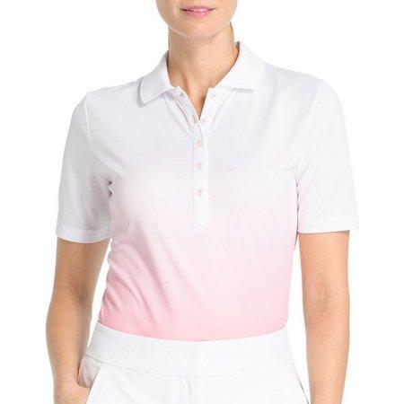 IZOD Golf Womens Ombre Polo Shirt
