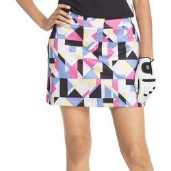 IZOD Golf Womens Geo Print Knit Skort