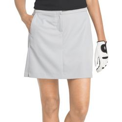 IZOD Golf Womens Basic Solid Woven Pocket Skort