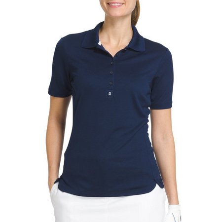 IZOD Golf Short Sleeve Tulip Hem Polo Shirt