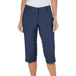 New! Pebble Beach Womens Solid Stretch Capris