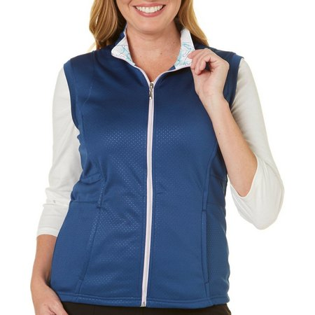 Pebble Beach Womens Zip Up Front Vest
