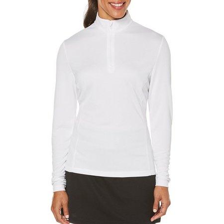 PGA TOUR Womens Long Sleeve Zipper Placket Shirt