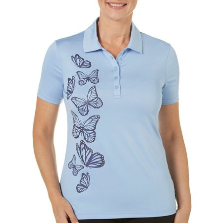 Coral Bay Golf Womens Butterfly Polo Shirt