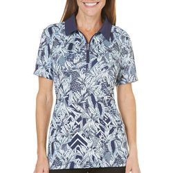Coral Bay Golf Womens Floral Geo Print Polo