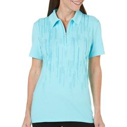 Coral Bay Golf Womens Short Sleeve Foil Polo