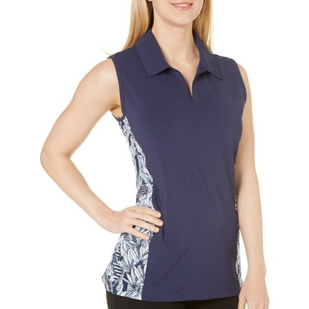Coral Bay Golf Womens Floral Side Panel Polo