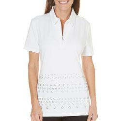 Coral Bay Golf Short Sleeve Grommet Polo Shirt