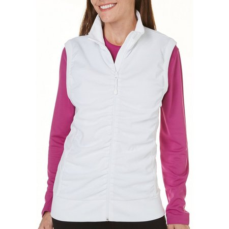 Coral Bay Golf Womens Sleeveless Mesh Zipper Vest