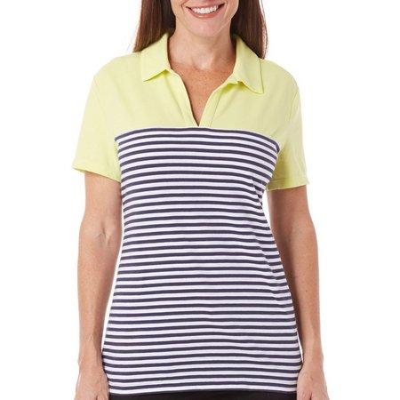 Coral Bay Golf Womens Stripe Split Neck Polo