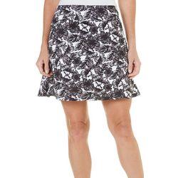 Coral Bay Golf Womens Hibiscus Print Knit Skort