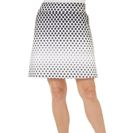 Coral Bay Golf Womens Ombre Dot Printed Skort