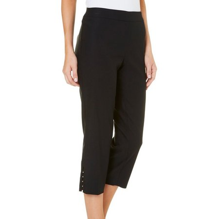 Counterparts Womens Pull On Rivet Crop Capris