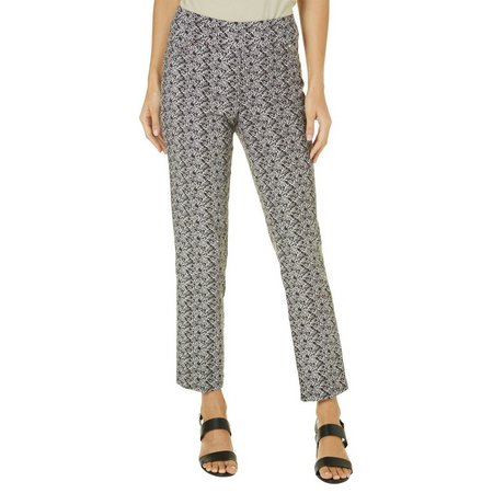 Counterparts Womens Floral Print Ankle Pants