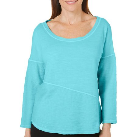 Hot Cotton Womens Solid Angle Top