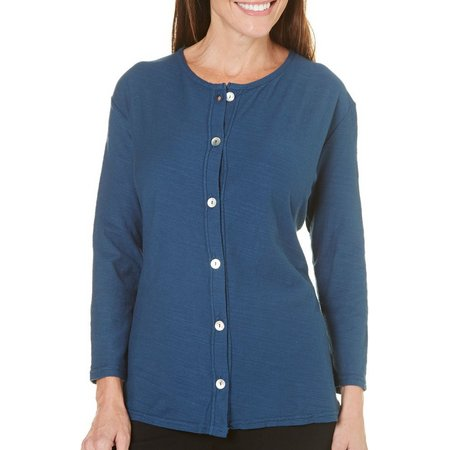 Hot Cotton Womens Slub Cardigan