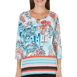 SPORTELLE Womens For The Country Girl Scenic Top