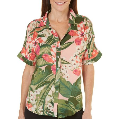 Margaritaville Womens Manoa Smoked Shirt
