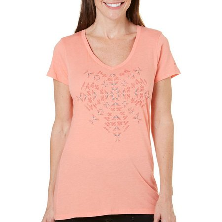 Columbia Womens Short Sleeve Aztec Print T-Shirt