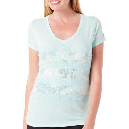 Columbia Womens Sandy Stripe T- Shirt