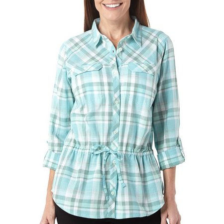 Columbia Womens Camp Henry Long Sleeve Plaid Top