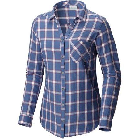 Columbia Womens Wild Haven Plaid Long Sleeve Shirt
