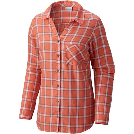 Columbia Womens Wild Haven Plaid Long Sleeve Shirt