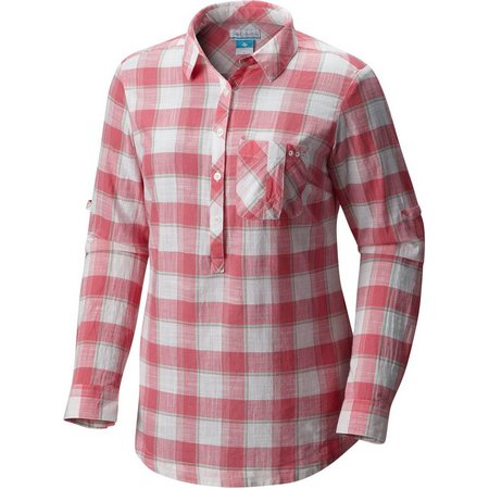 Columbia Plus Coral Springs II Plaid Top