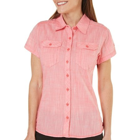 Columbia Womens Camp Henry Short Sleeve Shirt
