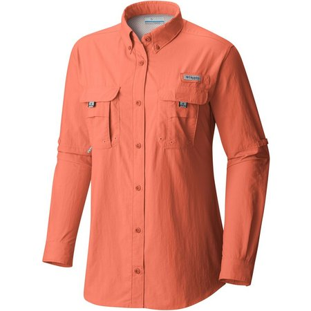 Columbia Womens PFG Bahama Solid Long Sleeve Shirt