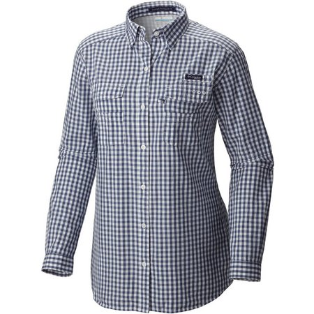 Columbia Womens Super Bonehead II Gingham Top