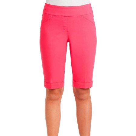 Alia Womens Solid Bermuda Shorts
