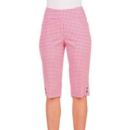 Alia Womens Button Accent Hems Faux Pocket Shorts