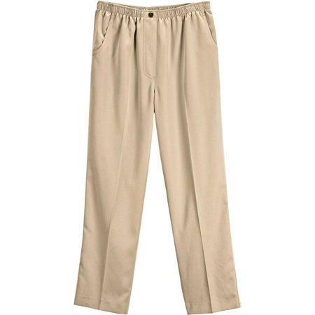Alia Womens Microfiber Pull On Pants