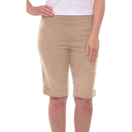 Alia Womens Tech Stretch Bermuda Shorts